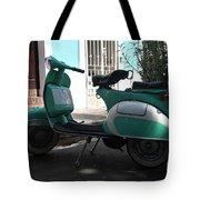 Green Vespa Tote Bag