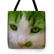 Green Kitten Tote Bag