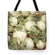 Green Kohlrabi Basket Display Tote Bag