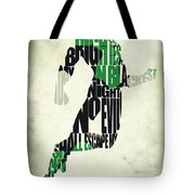 Green Lantern Tote Bag by Ayse Deniz
