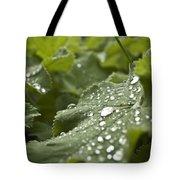 Green Leaf And  Fresh Water Pearl Tote Bag