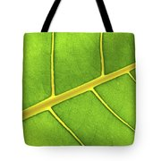 Green Leaf Close Up Tote Bag