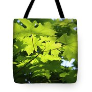 Green Leaves Canvas Tote Bag