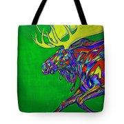 Green Mega Moose Tote Bag