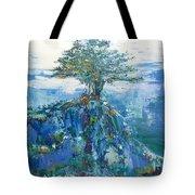 Green Mountain Tree Tote Bag