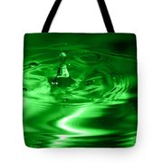 Green Multi Colored Water Drop Bubbling Tote Bag