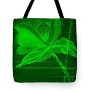 Green Negative Wood Flower Tote Bag