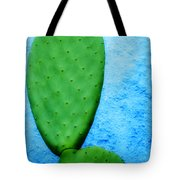 Green On Blue Tote Bag by Carol Leigh