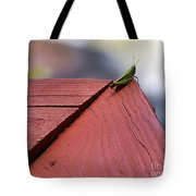 Green On Red Tote Bag