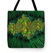 Green Ornament Tote Bag