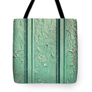 Green Painted Wood Tote Bag