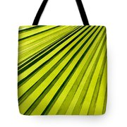Green Palm Frond Tote Bag