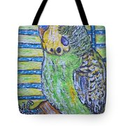 Green Parakeet Tote Bag