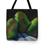 Green Pears With Shadows Cast Tote Bag