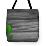 Green Pedal Shaped Hearts Tote Bag