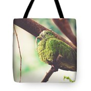 Green Pigeon Tote Bag