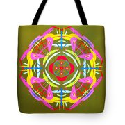 Green Pink Yellow Abstract Tote Bag