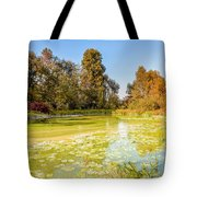 Green Pond And Tree Tote Bag