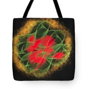 Green Red Gold Abstract Tote Bag