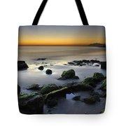 Green Rocks At Sunset Tote Bag