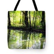 Green Shadows Tote Bag