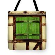 Green Shutters In Colmar France Tote Bag