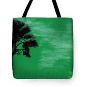 Green Sky Sunset Tote Bag