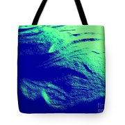 Green Snow Dune Abstract Tote Bag