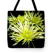 Green Spider Mums Tote Bag