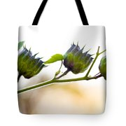 Green Spiky Wild Flowers Tote Bag
