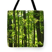 Green Spring Forest Tote Bag