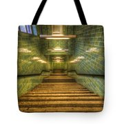 Green Stairs Tote Bag