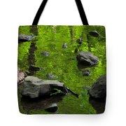 Green Stream Tote Bag