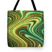 Green Swirls Mind Bend Tote Bag