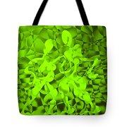 Green Tango Rhythms Tote Bag