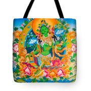 Green Tara 12 Tote Bag