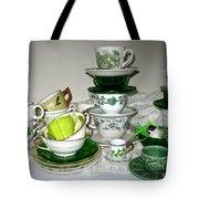 Green Teacups  Tote Bag