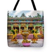 Green Temple Tote Bag
