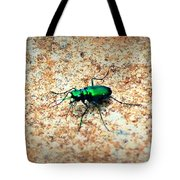 Green Tiger Beetle Tote Bag
