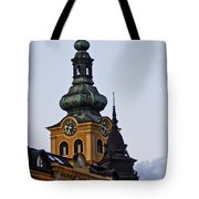 Green Tower Tote Bag