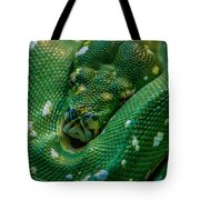 green tree python Macro Tote Bag