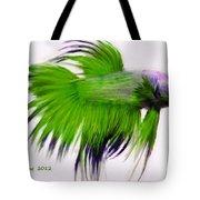 Green Tropical Fish Tote Bag