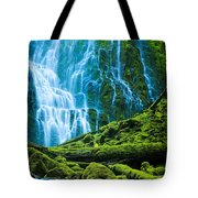 Green Waterfall Tote Bag