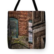 Green Widows And Leaves Tote Bag