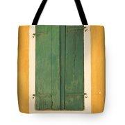 Green Window Shutters Tote Bag