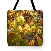 Green Yellow And Dry Leaves Tote Bag