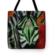 Green Zebra Stripes  Tote Bag