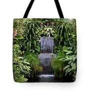 Greenhouse Garden Waterfall Tote Bag