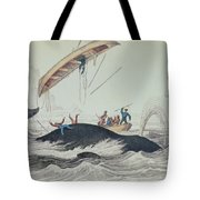 Greenland Whale Book Illustration Engraved By William Home Lizars  Tote Bag