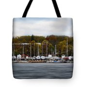 Greenwich Harbor Tote Bag by Lourry Legarde